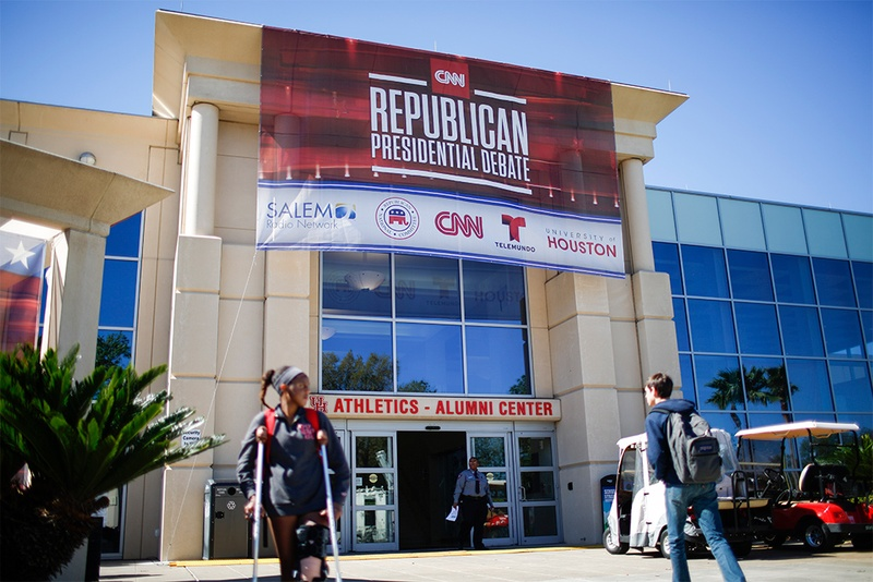 GOP sign at the University of Houston