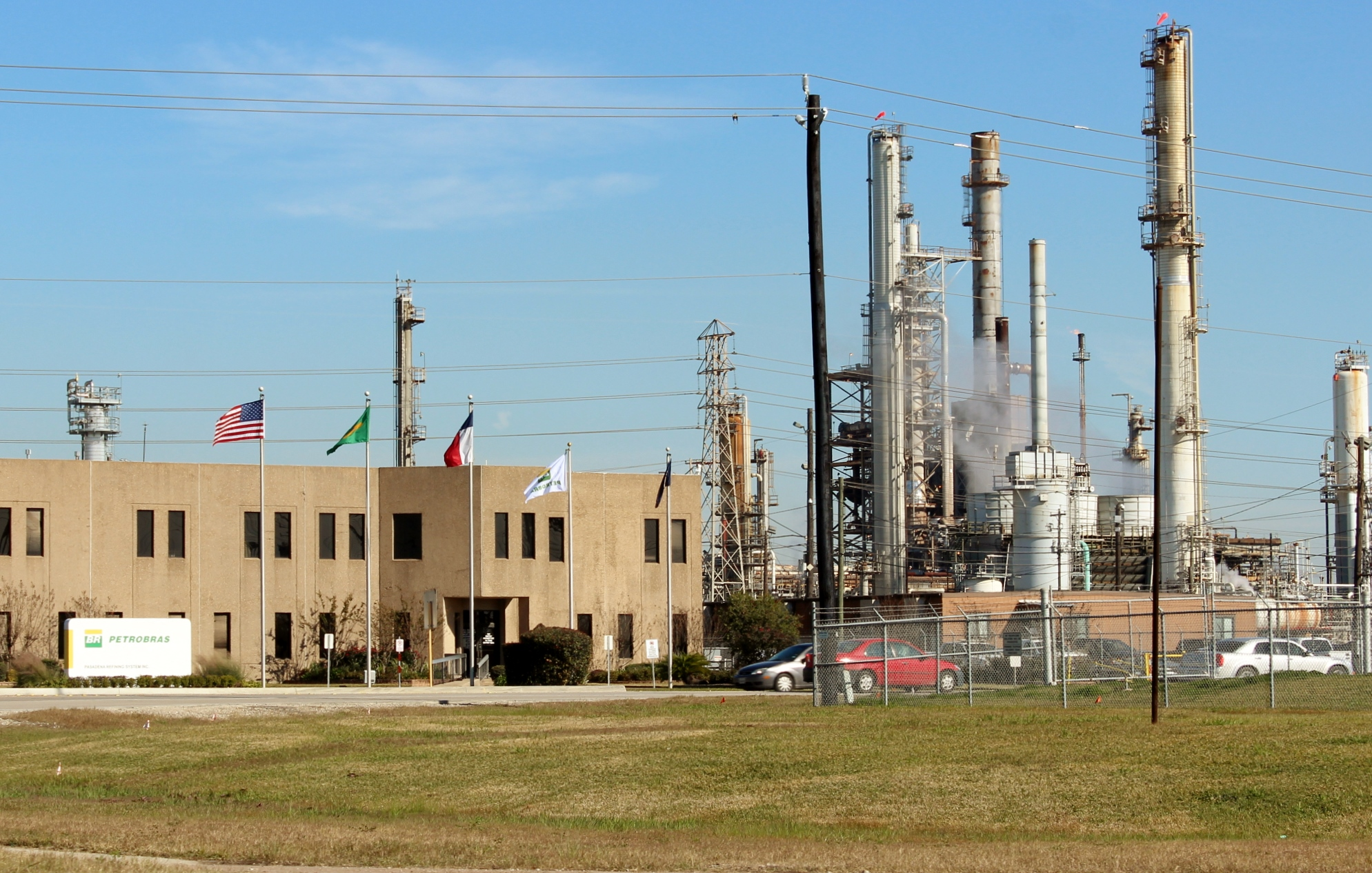 Petrobras's Pasadena Refining System plant is near the Washburn Tunnel on the Houston Ship Channel. Image: Dave Fehling, Houston Public Media
