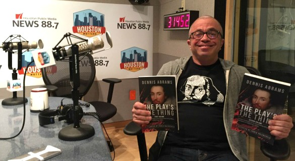 Local author Dennis Abrams in the Houston Matters studio discussing his new book for young adults on Shakespeare called 'The Play's The Thing.' Photo: Edel Howlin, Houston Public Media)