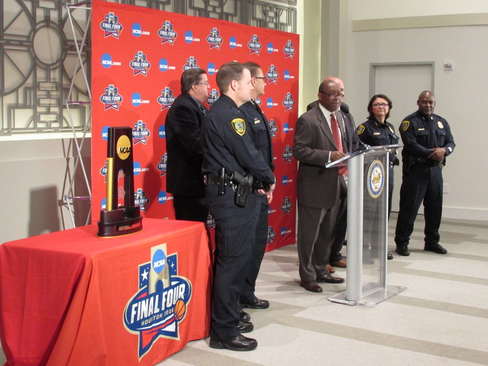 Houston Mayor Sylvester Turner discusses Final Four preparations.