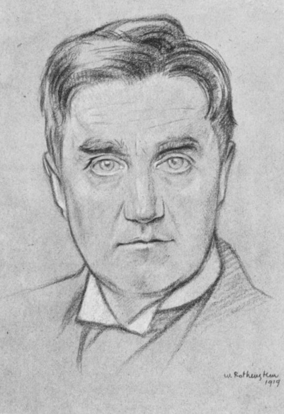A portrait of Vaughan Williams in 1919 by William Rothenstein