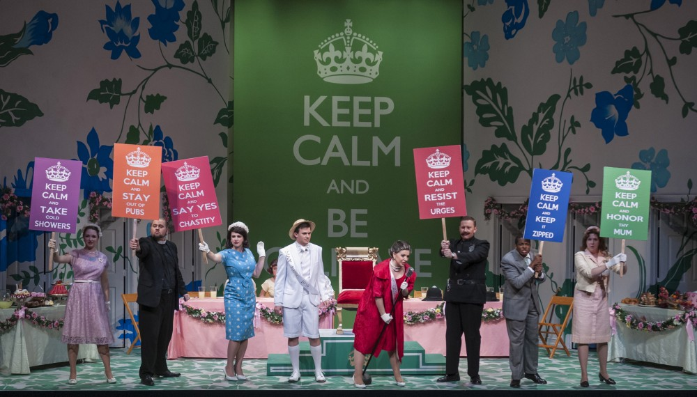 Photo from the Shepherd School of Music's Albert Herring production in Spring 2014