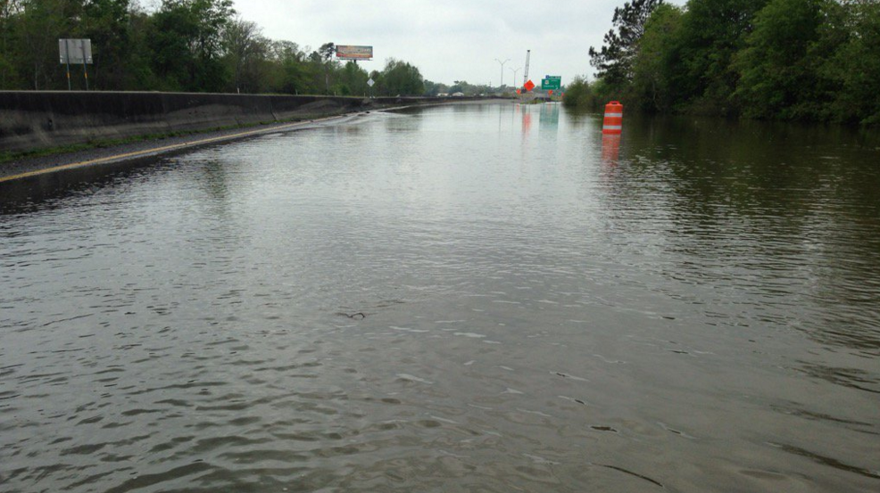 I-10 At Louisiana State Line Flooding
