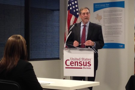 John Thompson, director of the U.S. Census Bureau, says his agency chose Harris County to conduct its test looking forward to the 2020 census because of its diversity in terms of population, economy and also regarding the languages that residents speak.