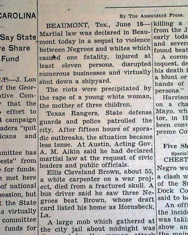 Picture of newspaper article