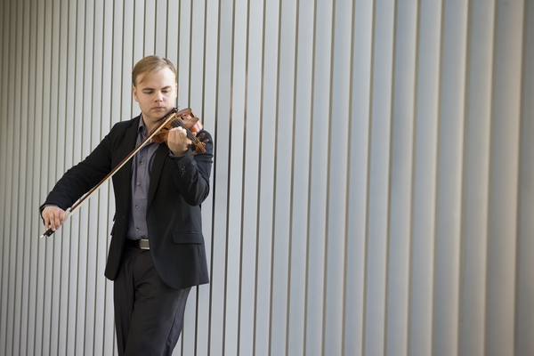 Matthew Detrick, violinist for the Apollo Chamber Players