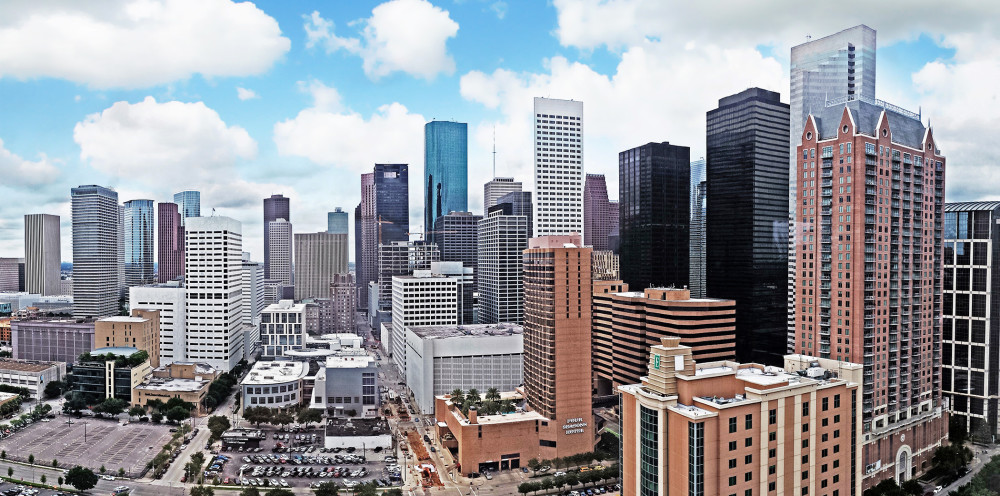 Downtown Houston as seen from Hilton Americas
