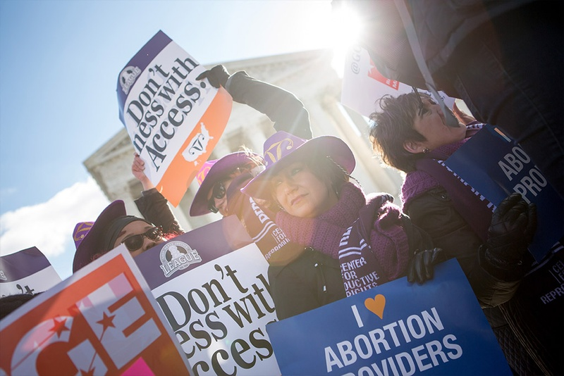 pro choice women and signs