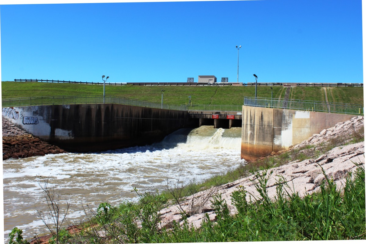 The Barker and Addicks Dams were built just after WW II to reduce flooding on Houston's west side
