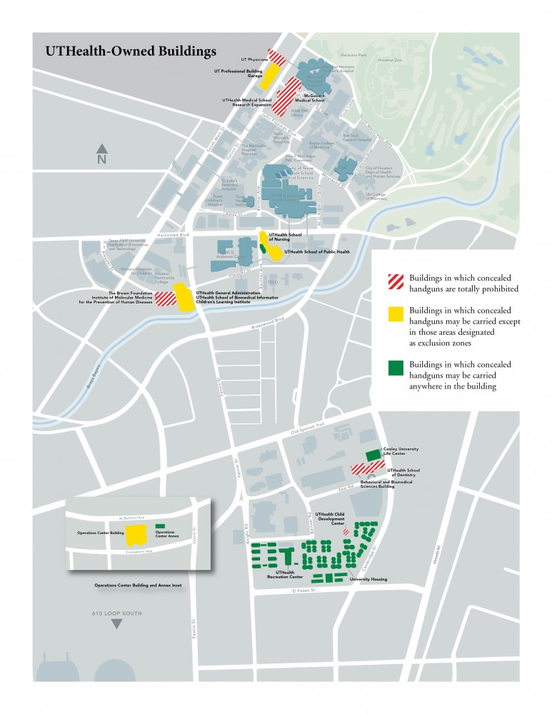 UT Health Campus Carry Map
