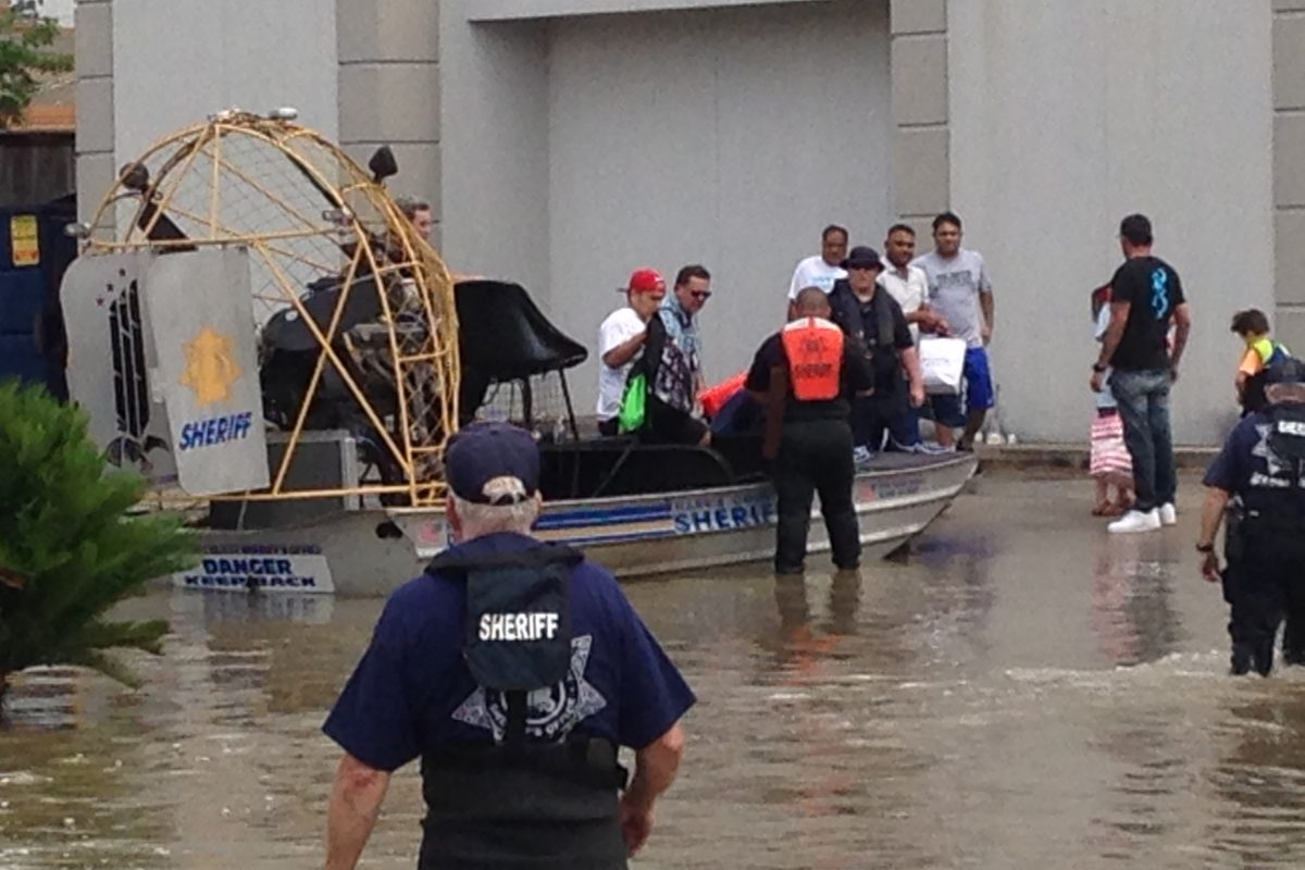 The Harris County Sheriff's office continues search and rescue efforts after this week's storms and flooding. Photo by Houston Public Media