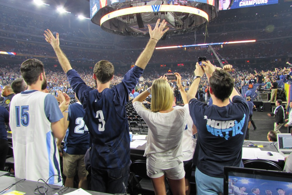 Fans capture the moment as Villanova wins the 2016 NCAA Championship.