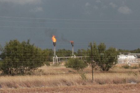 Natural gas flared