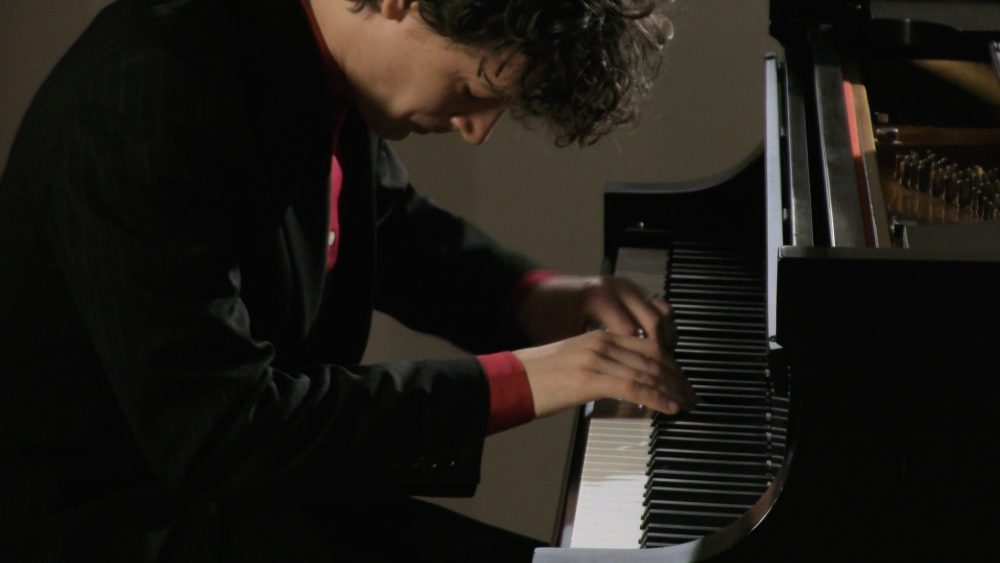 "Adam Clay performs Claude Debussy's ""Des Pas Sur La Neige"" on the Steinway."