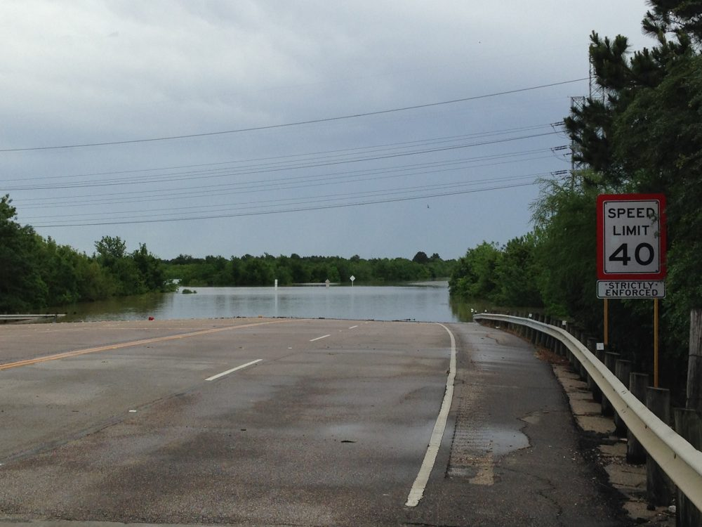 Eldridge Parkway under floodwaters