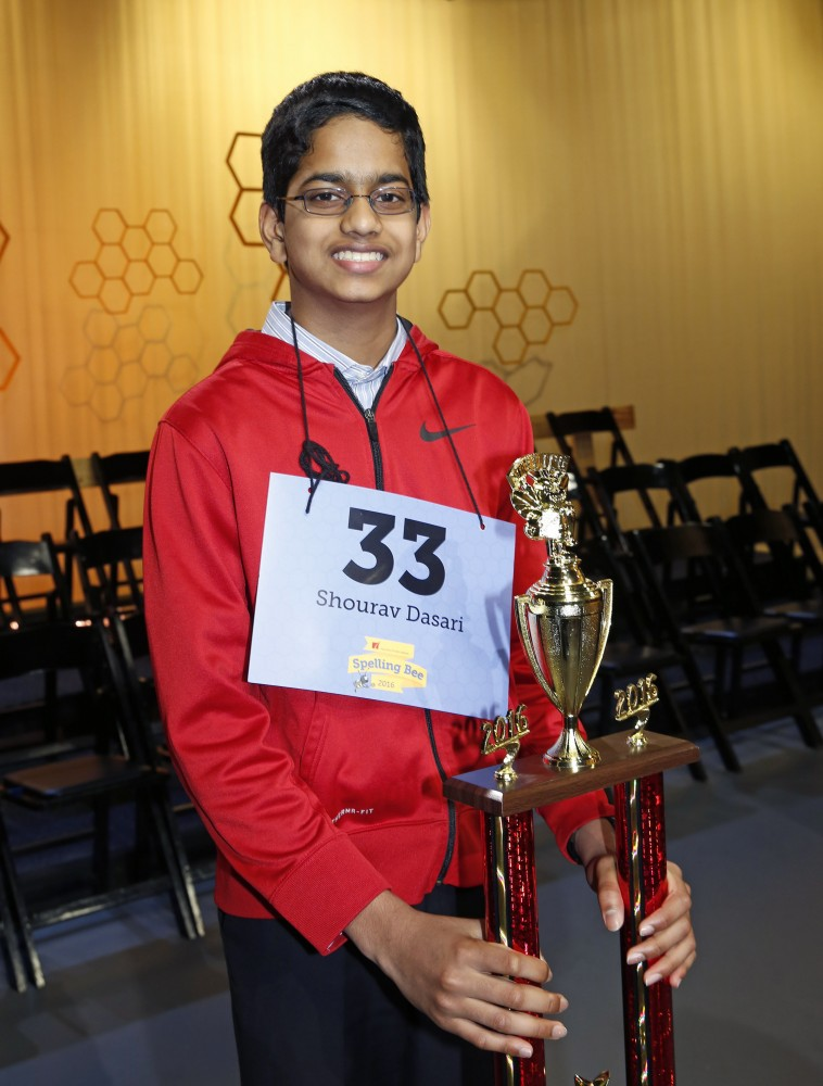 Co-champion speller Shourav Dasari is a Spring resident and seventh grader at McCullough Jr. High in Conroe ISD.