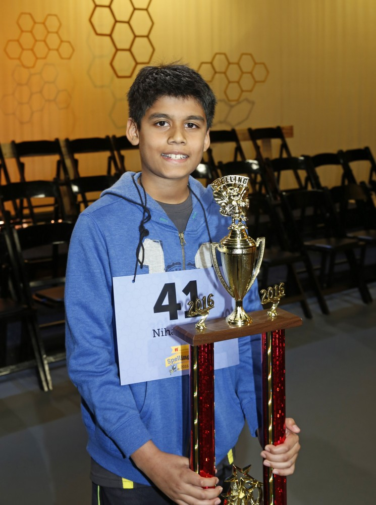 Co-champion speller Nihar Jangaan is an Austin resident and fifth grader at River Ridge Elementary in Leander ISD.