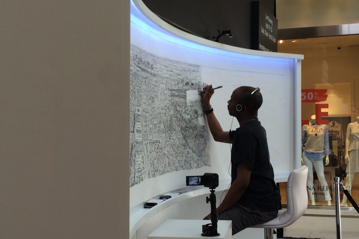 Stephen Wiltshire side view