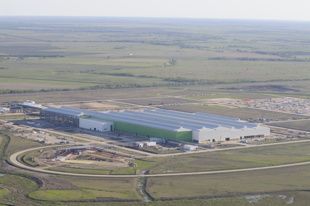 The Tenaris plant is 8 stories high and covers 25 acres