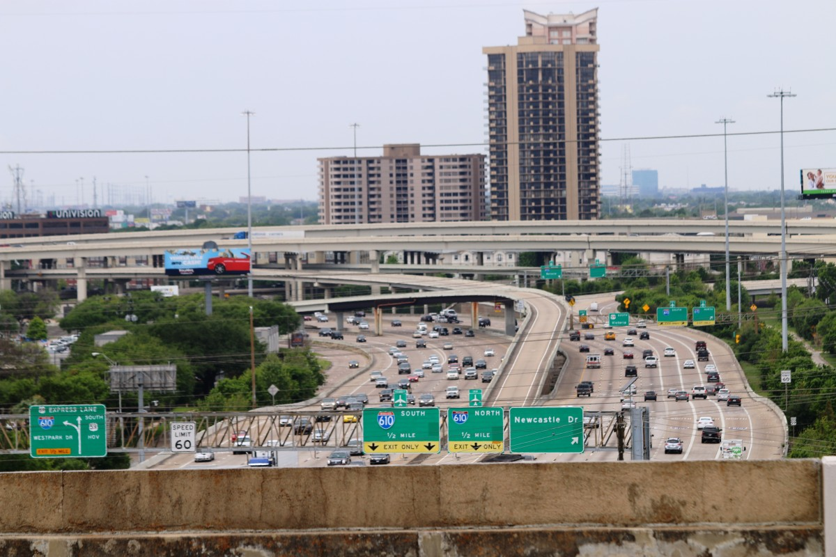 The IH 610/SH 59 interchange as it looks today