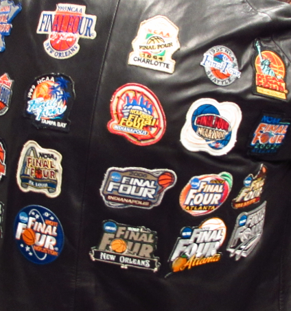 Fan Mark Majors says he buys a lot of his Final Four patches on eBay.