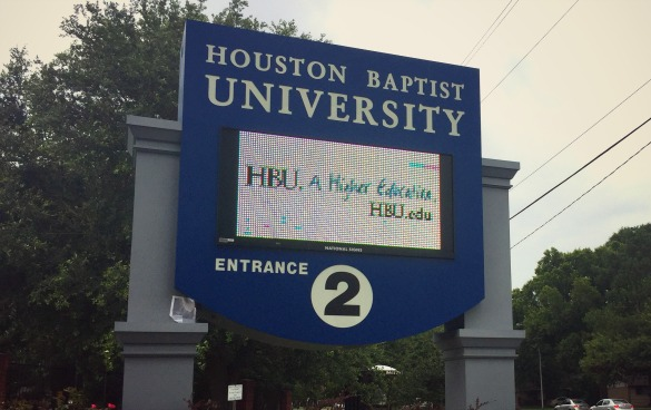 Houston Baptist University Sign - HBU - Colleges - Education - MHagerty