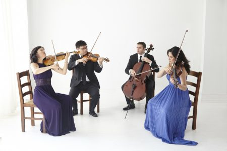 The Enso String Quartet is Maureen Nelson (violin), Ken Hamao (violin), Richard Belcher (cello), and Melissa Reardon (viola).