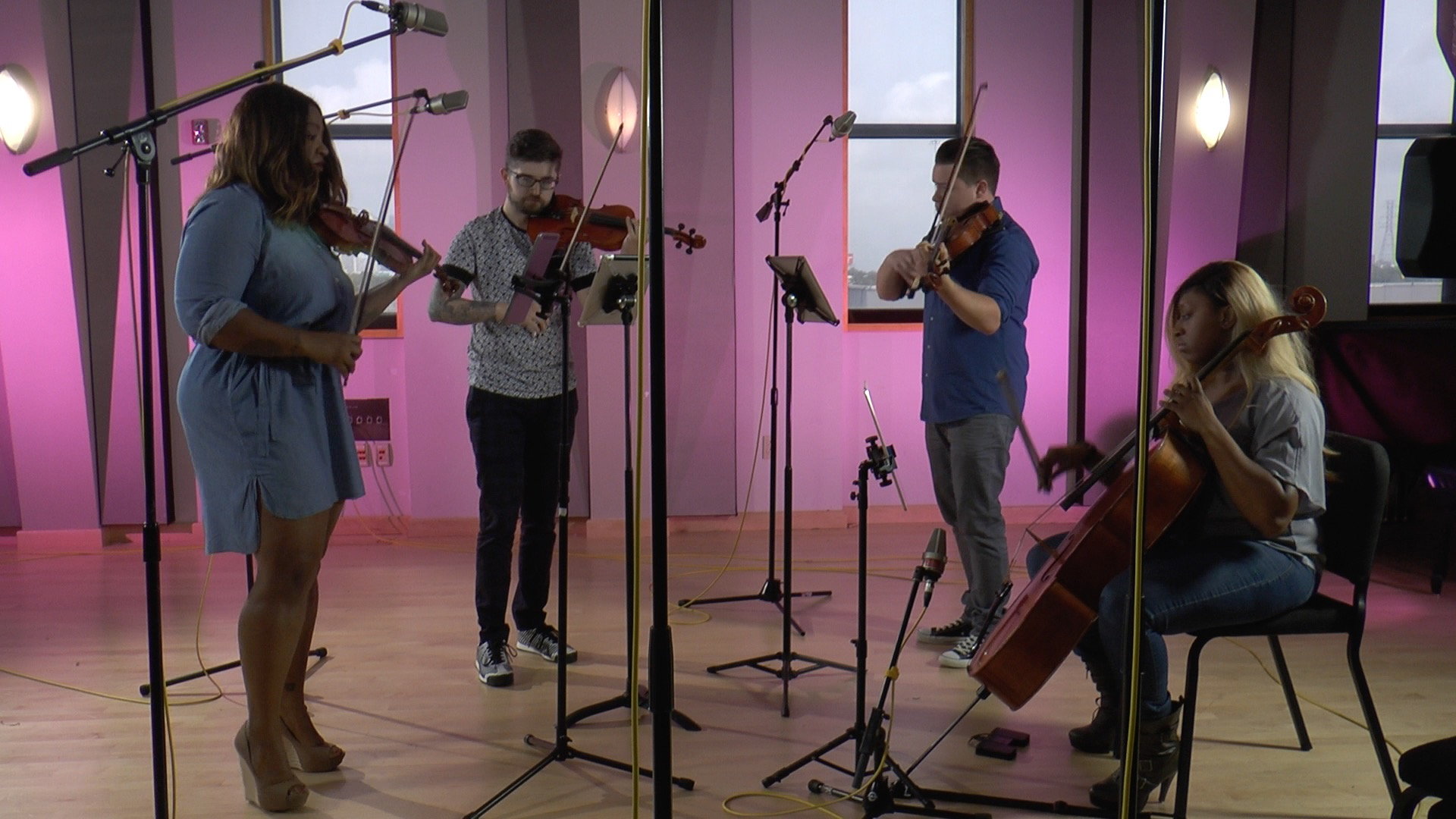 Divisi Strings in Houston Public Media's Geary Performance Studio