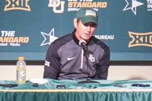 Baylor University football head coach Art Briles speaks at a press conference
