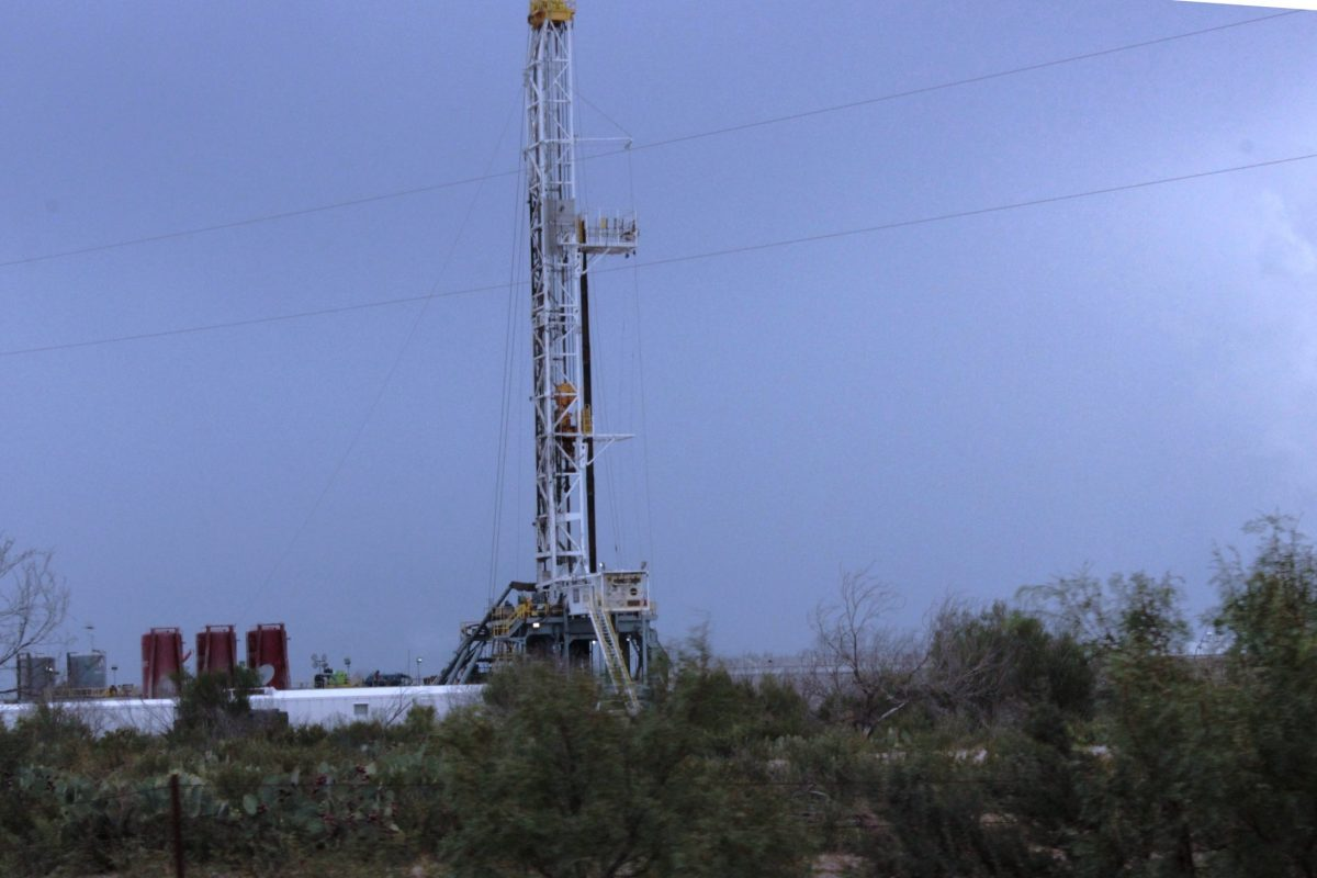 Drilling rig in La Salle County, Texas