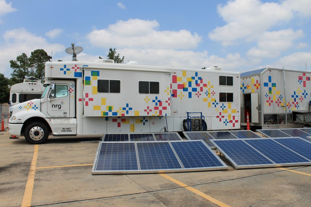 Power2Serve vehicle and solar panels