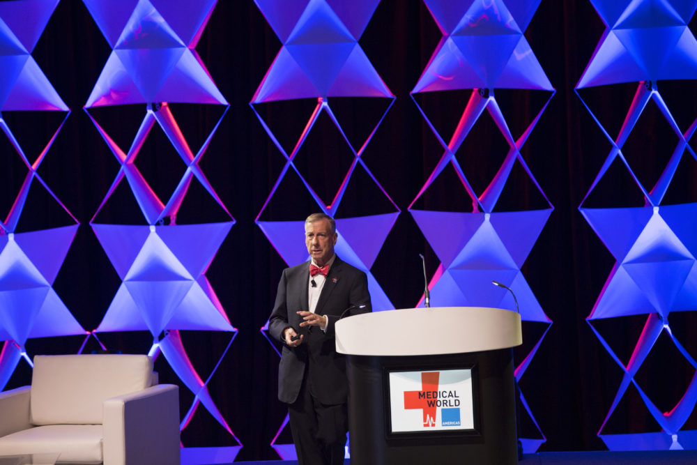 Dr. Tim Garson of the Texas Medical Center's Health Policy Institute presented results from the five-state survey during the plenary session of Medical World Americas in Houston.
