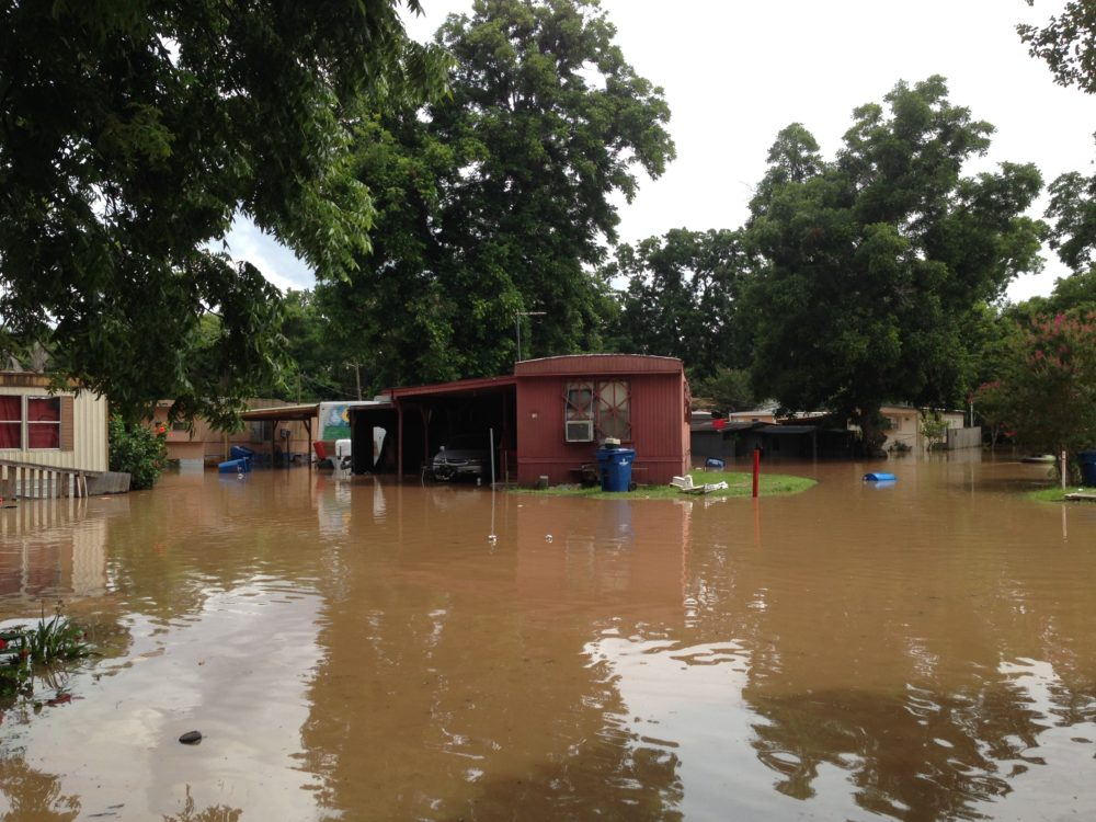 Parts of Richmond, in Fort Bend County, that are close to the Brazos River have been severely flooded.