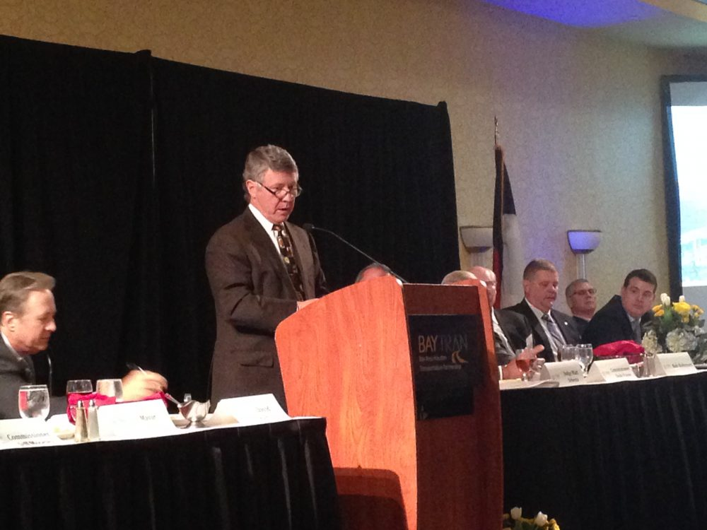 Judge Ed Emmett was one of the keynote speakers at the 17th Annual State of the Counties luncheon, organized by BayTran.