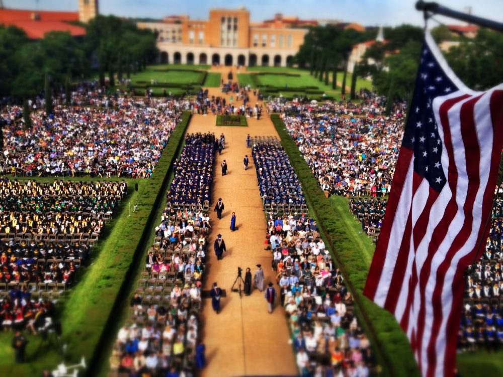 A picture of Rice University's Commencement Ceremony