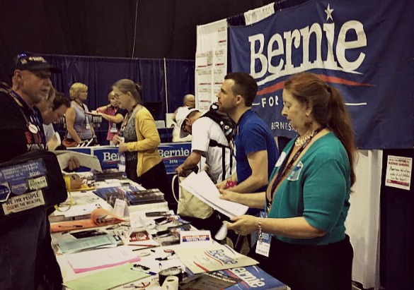 Workers at the 2016 Texas Democratic Convention in San Antonio. Photo: Andrew Schneider, Houston Public Media