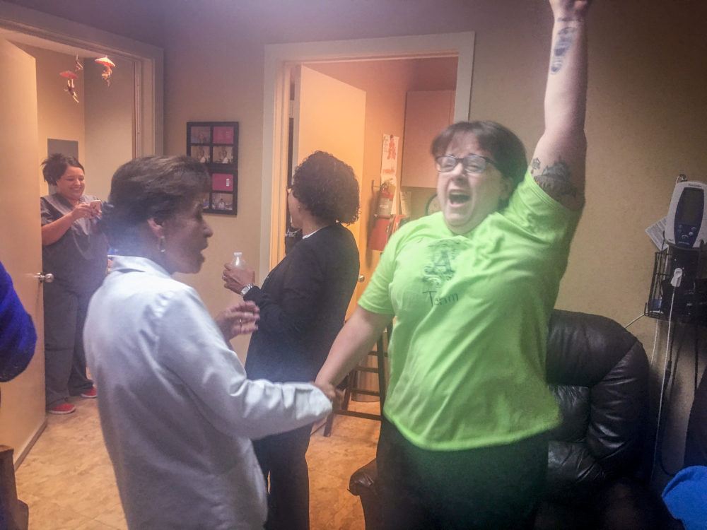 Nurses and health counselors celebrated the Supreme Court ruling Monday morning at the Houston Women's Clinic. The medical office can remain open, after five Justices struck down a provision of Texas law requiring all abortion clinics to meet the same standards as outpatient surgery centers.