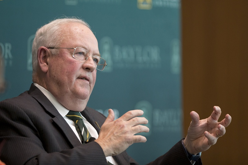 Ken Starr during a Texas Tribune symposium on higher education in Waco.