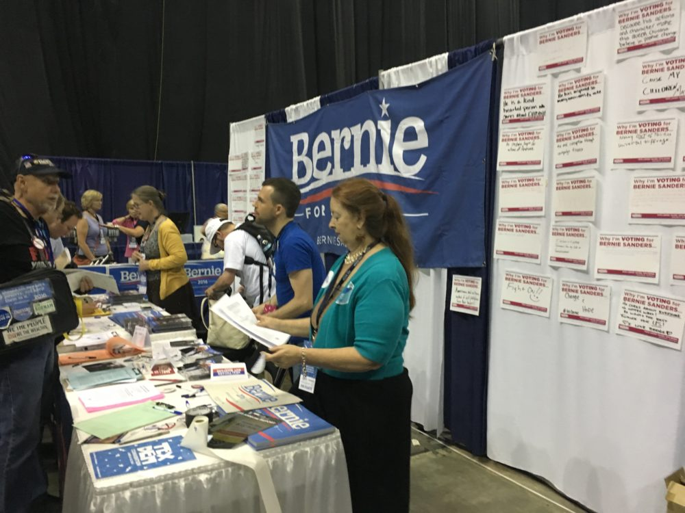Bernie for President booth