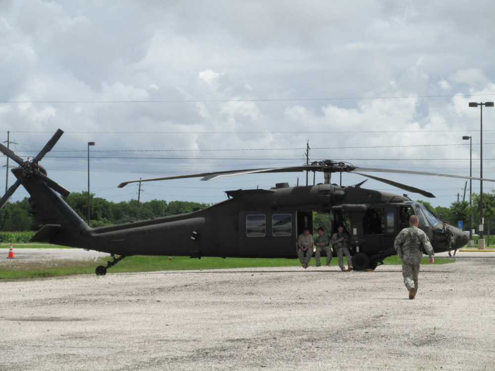 Black Hawk helicopter at the Fort Bend County fairgrounds