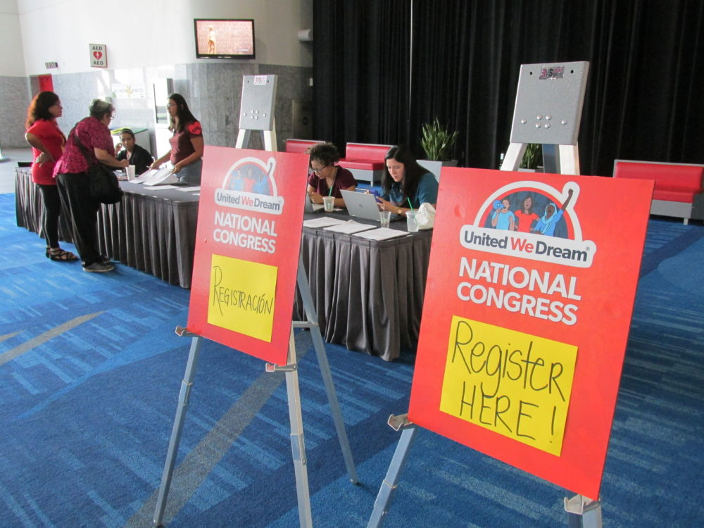 About 1,000 mostly young, undocumented immigrants are gathering at the George R. Brown Convention Center this weekend.