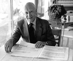 Witold Lutoslawski in 1993