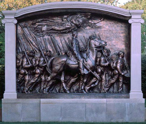 Memorial to Robert Gould Shaw and the 54th Regiment