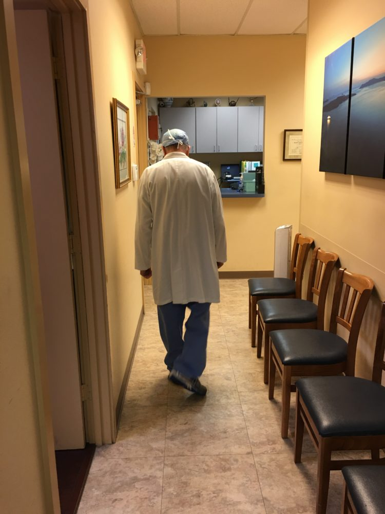 Dr. Bernard Rosenfeld, 73, at the end of the workday at the Houston Women's Clinic, an abortion clinic he has owned and operated since 1982.