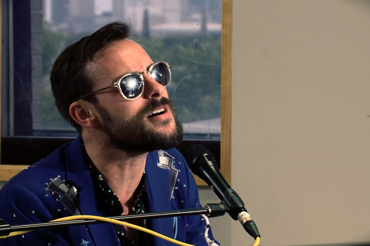 "Houston-based singer/songwriter Robert Ellis performs on Houston Public Media's ""Skyline Sessions"" on TV 8."