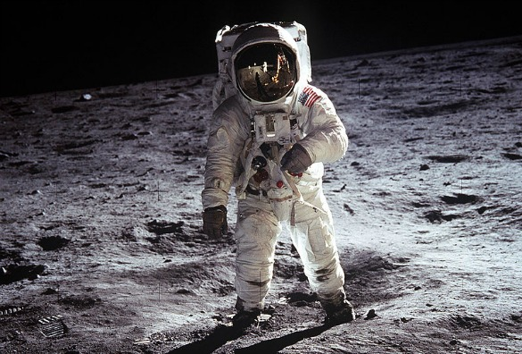 Astronaut Buzz Aldrin walked on the moon during Apollo 11, July 20–21, 1969. (Photo: Wikipedia Commons/Public Domain)
