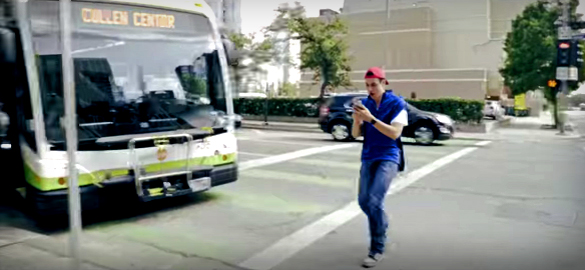 "A YouTube screen capture from the parody video ""When Pokemon Go Goes Too Far"" by Houston filmmaker Andrew Peterson. (Image: YouTube Screen Capture)"
