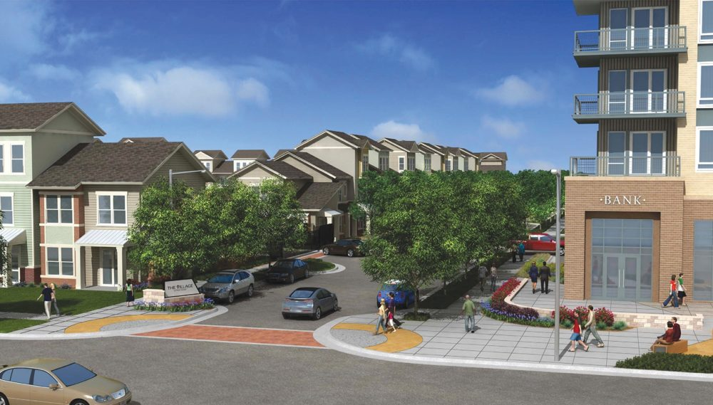 This rendering shows The Village at Palm Center, one of the projects the City of Houston's Housing and Community Development Department is involved in and that entails units restricted at affordable rents.