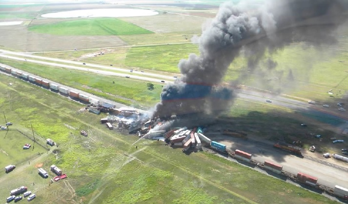 NTSB: Train Failed To Stop Prior To Fiery Texas Panhandle