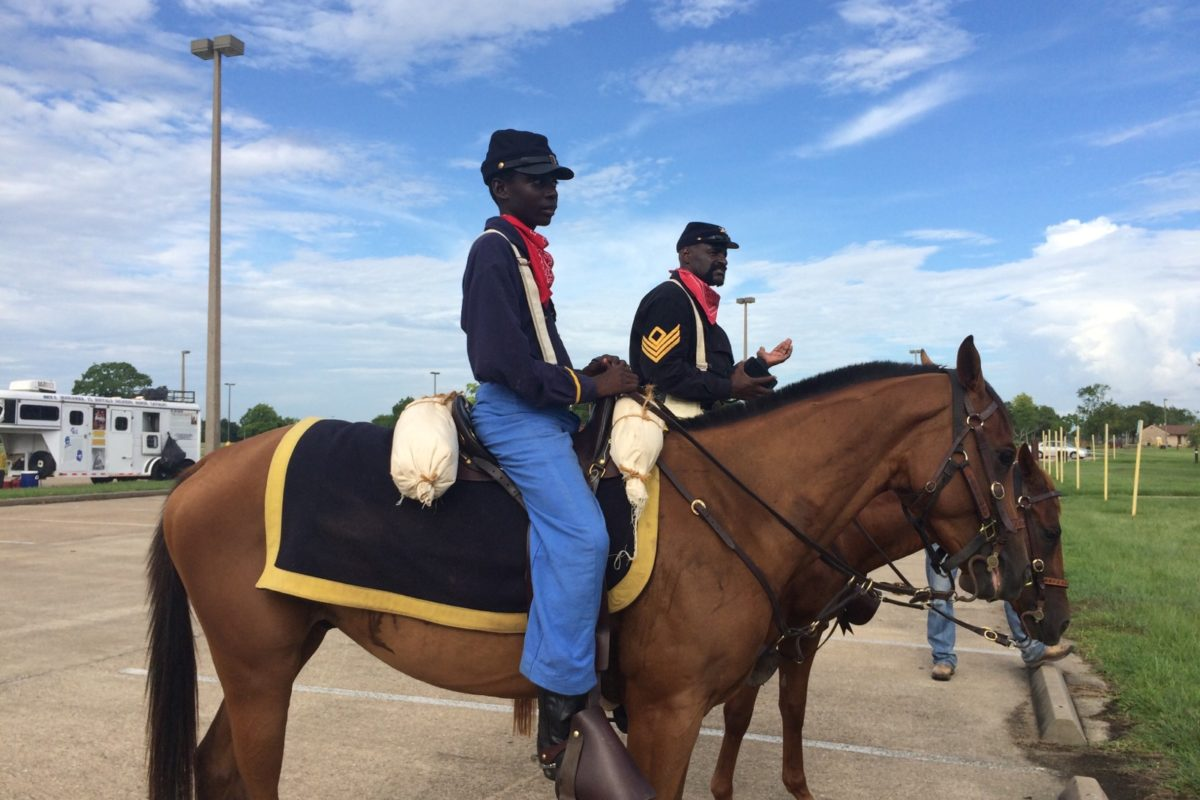 Riders from Pennsylvania taking part in Buffalo Soldiers commemoration